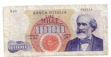 Italia 1000 lire 1964 Verdi BB  VF  pick 96c numero serie 762014  rif 2413