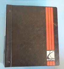 1997 Saturn EV1 service manual Binder Set Volume 3