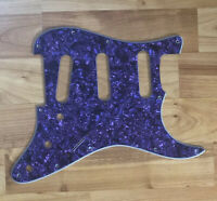 NEW Purple Pearloid SSS StratPICKGUARD for Fender Single Coil Pickups
