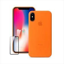 Iphone X Case Slim Anti-Scratch Protective Case 0.3mm Ultra,5g Ultralight orange