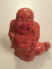 Figur Happy Hotai Buddha Koralle Schaumkoralle Reichtum Glück Feng Shui