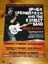 BRUCE SPRINGSTEEN 2014  Australian Tour - Laminated Promotional Poster