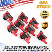 D585 Round Ignition Coils 8 Pack For Chevrolet GMC LS1 LS3 4.8L 5.3L 6.0L UF262