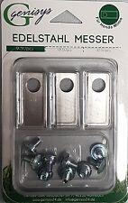 9  Edelstahl Messer Klingen &Schrauben Honda® Miimo geprüfte Qualität Preisgar.