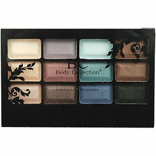 Body Collection Beauty Shadows - 12 Shade Eyeshadow Eye Shadow Palette Kit