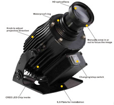 Outdoor Waterproof 40W LED Rotating Gobo Advertising Logo Projector Light