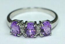 Amethyst Sterling Silver Not Enhanced Natural Fine Rings