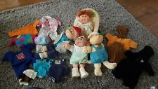 VINTAGE Cabbage Patch Kid Lot of 4, outfits, and carrier CHECK PICS