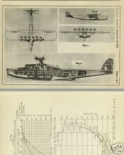 DORNIER Do X & Do R Superwal Flying Boat Report's RARE ARCHIVE DETAIL 1927 1930