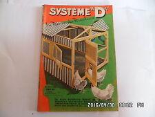 SYSTEME D N°172 AVRIL 1960 POULAILLER DEMONTABLE REMORQUE POUR VELO     G64
