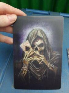 Alchemy Gothic Skeleton 3d Postcard