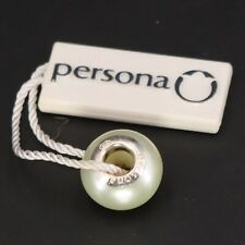 Sterling Silver - PERSONA White Shell Pearl Bracelet Charm Bead - 3g