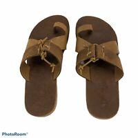 Free People Sophia Slip on Leather Sandals Olive Size 37 or 7 Brand New Boho