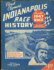 1947 Floyd Clymer's Indianapolis 500 Car Race Yearbook VGEX