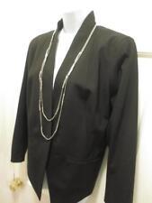 NWT $378 EILEEN FISHER Womens Black COLLARLESS HI Back FITTED BLAZER Jacket 14 L