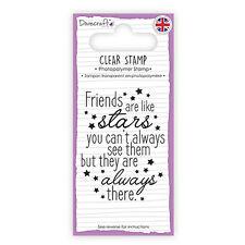 Dovecraft claro sello amigos son como estrellas TARJETAS SCRAPBOOKING
