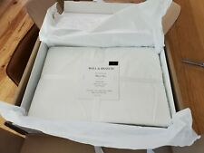 NEW Boll and Branch Percale Hemmed Sheet Set in White King - MSRP $268