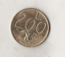 REPUBBLICA SAN MARINO - 200 LIRE 1991 _ PRIMA MONETA 1864 - CIRCOLATA
