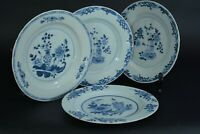 Rare assiette porcelaine chine 18 th Bleu de Chine antique china porcelaine X 4
