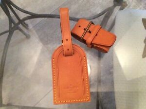 LOUIS VUITTON STRAP HOLDER and Address Tag for KEEPALL/BANDOULIERE Vachetta #A1