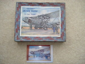 "C1930S VINTAGE ""VICTORY"" JIGSAW OF THE AIR LINER ""HENGIST"" (IMPERIAL AIRWAYS)"