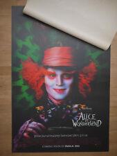 MINT Original *Alice in Wonderland Lenticular 3D Movie Poster 27x40 Johnny Depp