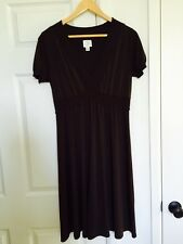Suzi Chin Maggy Boutique Jersey Style Dress, Ruffles Design, Brown Color, Size 8