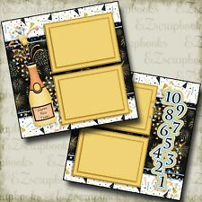 Happy New Year - 2 Premade Scrapbook Pages - EZ Layout 2688