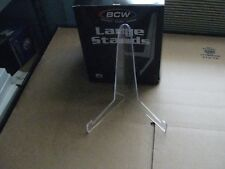 5 Large Stands Bcw Unfoldable Clear Plastic Photo / Postcard / Picture Stands
