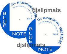 """Pair (2) BLUE NOTE Records 12"""" or 7"""" DJ SLIPMATS slipmat jazz davis gillespie"""