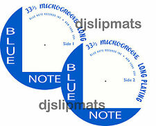 "Par (2) Blue Note Records 12"" o 7"" Dj Slipmats Fieltro Jazz Davis Gillespie"