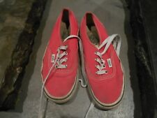 BASKETS VANS VINTAGE COLLECTOR SKATE T 35 rouge rose BE A 12€ ACH IMM FP RED MO