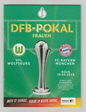 Orig.PRG  DFB Pokal Frauen  2017/18  FINALE   VfL WOLFSBURG - BAYERN MÜNCHEN  !!