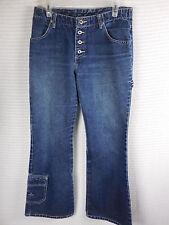 Vintage 1980's 1990's Jordache Jeans Womens Sz 31W 30L Button Fly Flare Dark