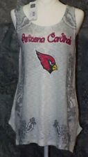 Arizona Cardinals Tank Top Misses Teen Large Grey Rhinestones NFL Shirt New