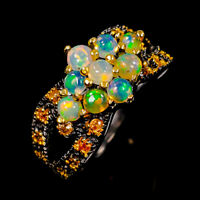 Opal Ring Silver 925 Sterling Jewelry Fine ART Size 8.5 /R145153