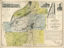 """18"""" x 24"""" 1895 Map of Floyd County, Ga. embraces 512 square miles of the mos"""