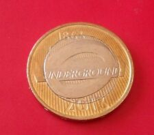 £ 2 Due Pound London Underground COCCARDA 2013 Great British Coin Hunt Collection