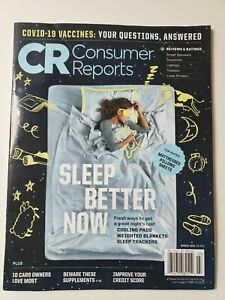 CR Consumer Reports March 2021 Magazine Sleep Better Now - Cooling Pads- Sleep