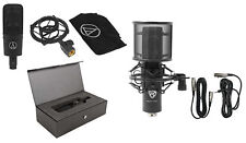 Audio Technica AT4040 Pro Cardioid Condenser Microphone+Case+Studio Mic+Mount