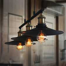 Retro Vintage Industrial Ceiling Hanging Pulley Lamp Retractable Pendant Light