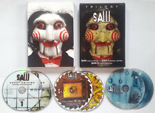 SAW TRILOGY BOX SET (DVD, 2007, 6-Disc) 3D EMBOSSED BILLY PUPPET MASK SLIPCOVER