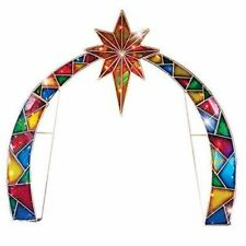 Outdoor Christmas Arch Lighted Colorful Mosaic With Star Of Bethlehem Xmas Decor