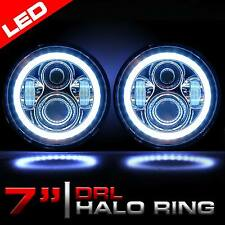 "7"" Inch LED Round Conversion Headlights Light Bulbs H6014 H6024 H6017 Chrome (2)"
