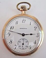 12S Hamilton 910 Swing Out Pocket Watch 1920 Model-1 17-Jewels