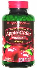 Apple Cider Vinegar 600mg 200 Capsules Mega Potency Natural Detox Pills