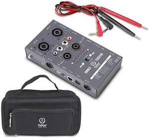 PROFI Kabeltester PALMER PRO AHMCTXL V2 Speakon XLR USB RJ45 Klinke Cinch DIN
