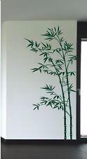 Wandtattoo Wandaufkleber Wandsticker Bambus Bambusbaum Blätter Deko