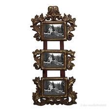 Barock Rokoko Galerie Bilderrahmen 3er Fotorahmen 9x6 Gold Antik zum Aufhängen