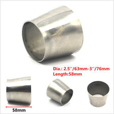 Stainless Steel Weldable Car Exhaust Pipe Reducer Adapter 2.5'' 63mm to 3'' 76mm